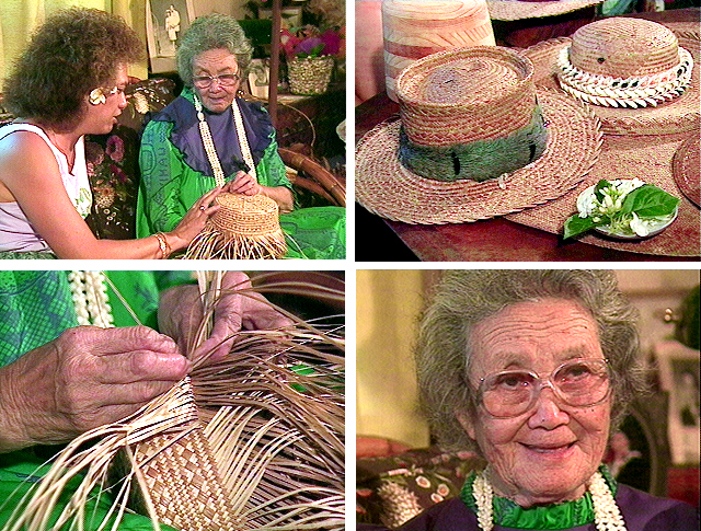 Esther Makuaole, Hawaiian language, Hawaiian culture, lauhala weaving, lauhala mats, lauhala hats, Kauai
