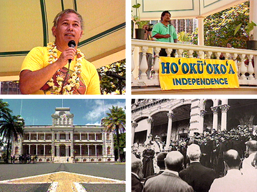 Hawaiian history, Hawaiian sovereignty, Hawaiian independence, Poka Laenui, Hayden Burgess, Iolani Palace, Bumpy Kanahele, overthrow