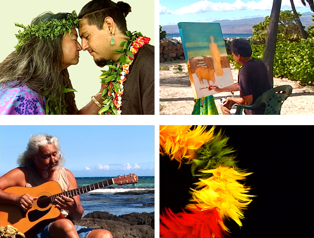 PIKO, indigenous art, Hiko Hanapi, Kohala, Waimea, painting, carving, lauhala, weaving, featherwork, Hawaiian culture, Hawaiian values