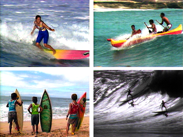 Hawaiian culture, surfing, Duke Kahanamoku, Hawaiian history, surf sites, canoe surfing, big wave surfing, Rell Sunn