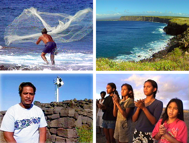 South Point, Ka Lae, Kau, Ka'u, Hawaiian culture, Hawaiian archaeology, Hawaiian anthropology, throw net fishing, Viernes
